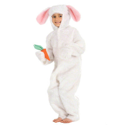 Kids Rabbit Costume White Easter Bunny Alice in Wonderland World Book Day Outfit - Alice Bunny Costume