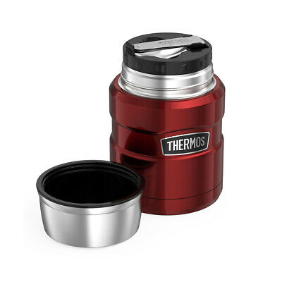 Stainless King Vacuum Insulated 16 oz Cranberry Food Jar - 1