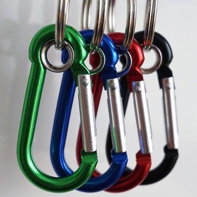 nium Schlüsselanhänger (mit) Ring oder D-Form 4 stück (Schlüsselanhänger Karabiner)