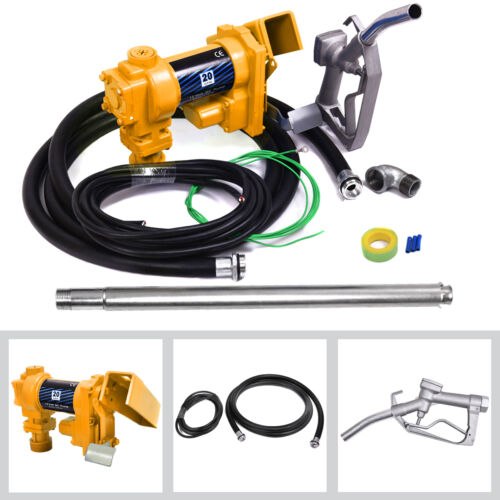 12V Electric Pump Fuel Transfer 12 Volt Diesel Oil Gasoline Kerosene Gas Nozzle