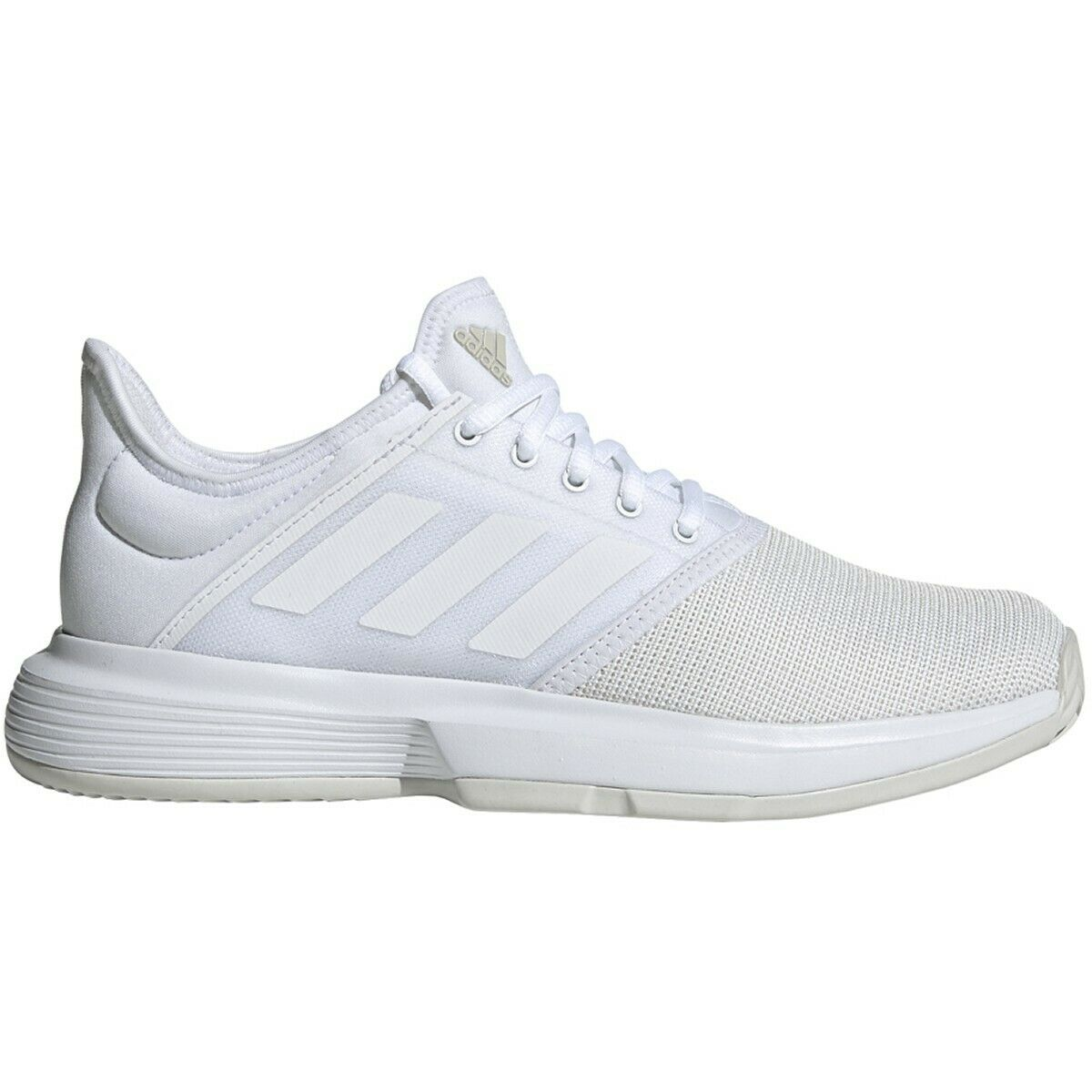 Womens Adidas GameCourt Wide White Athletic Tennis Court Sport Shoes G26825 7-9