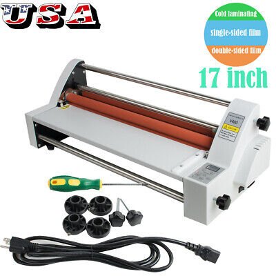 17 Hot Cold Laminator Singledual Sided Laminating Machine With 1 Roller Usa