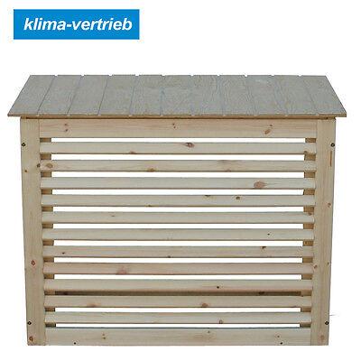 Klimagerät Sichtschutz Wetterschutz Verkleidung Wärmepumpen Holz  100x60x50cm