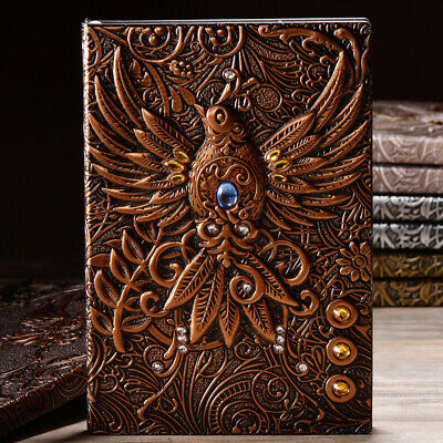 Notebook Phoenix A5 Book Notepad Travel Journal Vintage Handcraft Binder School