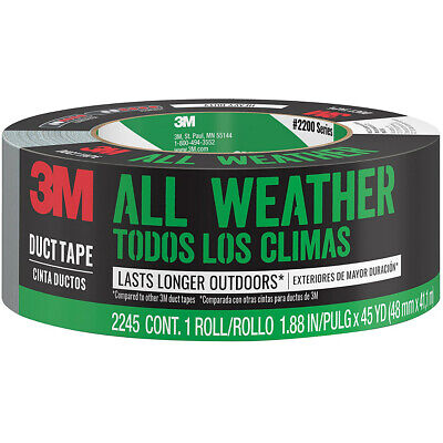 Scotch 2245-a Heavy Duty All-weather Duct Tape 1.88 X 45 Yd Graysilver