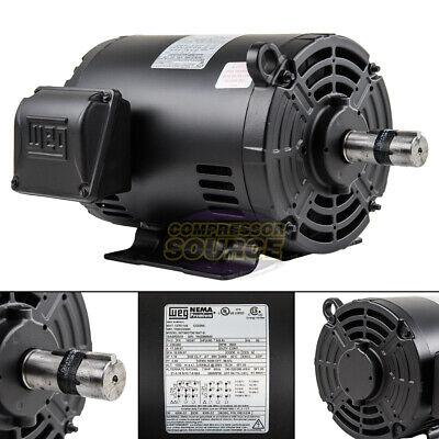 7.5 Hp 3 Phase Electric Motor Air Compressor Duty 184t Frame 3500 Rpm 3ph Weg