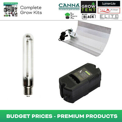 Hydroponics Plastic Magnetic Ballast Light Kit 600W HPS Bulb Reflector Indoor UK