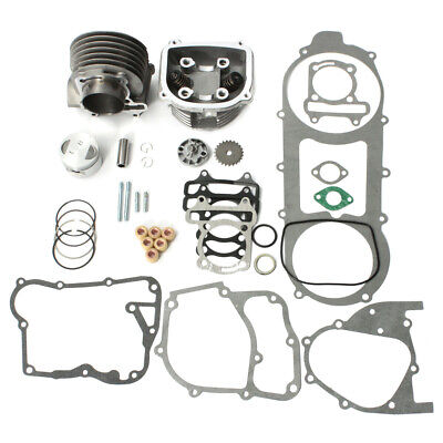Scooter 150cc GY6 Engine Rebuild Cylinder Head Kit Chinese Scooter 57mm Bore US 150 Cc Cylinder Head