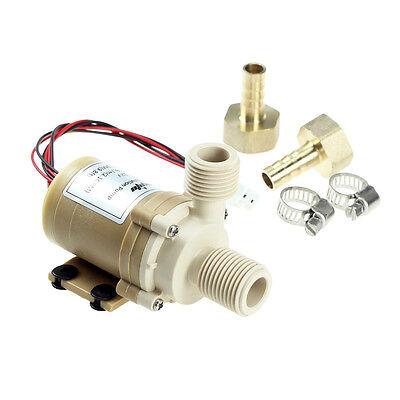 Solid&Quiet 12V DC Solar 212°F Hot Water Circulation Pump Brushless Motor 9.8FT (Hot Water Circulator Pump Motor)
