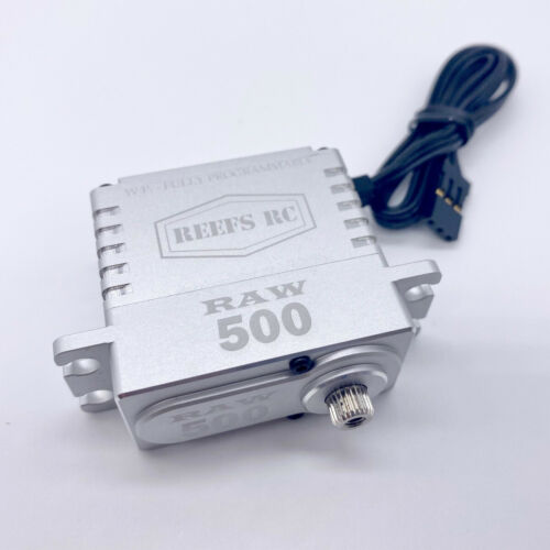 REEFs RC RAW 500 High Torque+Speed Waterproof Servo FULLY PROGRAMMABLE brushless