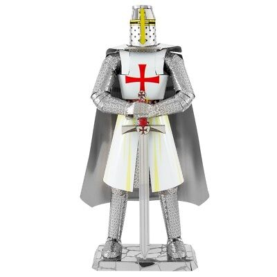 2018 Fascinations ICONX TEMPLAR KNIGHT 3D Laser Cut Metal Ea