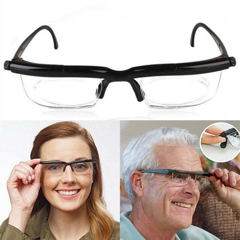 Unisex Herren Damen Einstellbar Eyewear Lesebrille Fokus Skala Brillen Vision