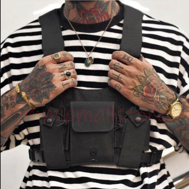Chest Rig Bag Tactical Harness Holster Vest Radio Hip-Hop Fanny Pack Streetwear