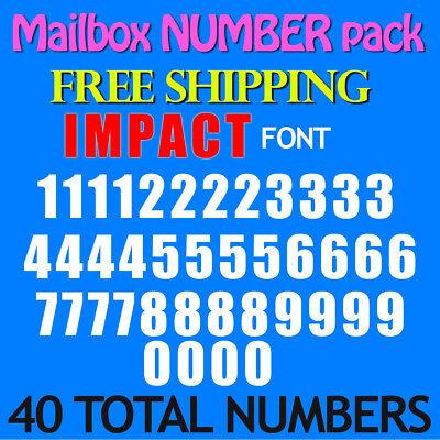 Mailbox NUMBER Decals IMPACT 1/2