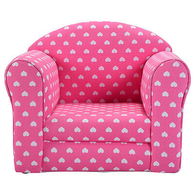 Pink w/Heart Kid Sofa Armrest Chair Couch Children Living Room Toddler Furniture