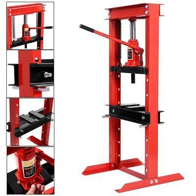 (12 Ton Shop Press Floor H-Frame Press Plates Hydraulic Jack Stand Equipment)