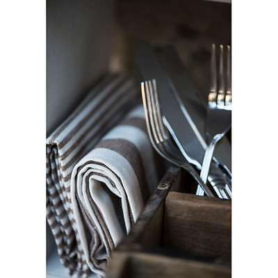 IB Laursen 3Fach Ziegelform Holz Kiste Unika antik shabby ethno Korb Industrial
