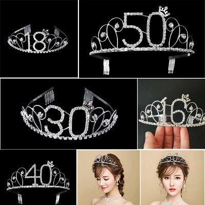 Crystal Birthday Crown Girl Tiara Princess Crown Hair Accessories Happy Birthday (Happy Birthday Tiaras)