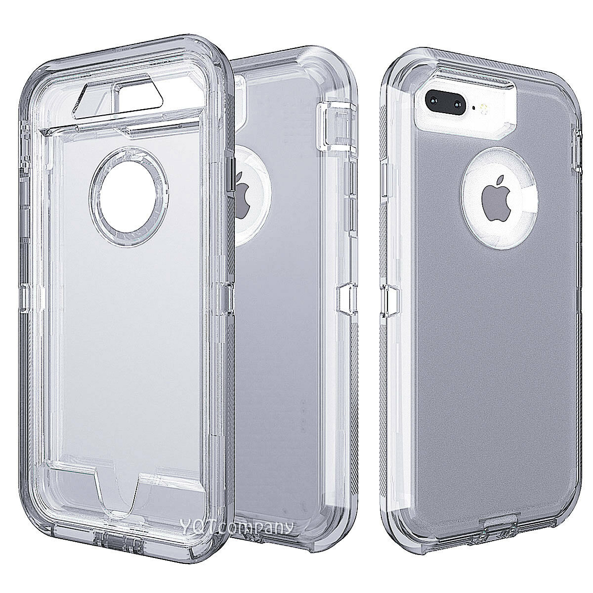 For iPhone 8 Plus 7 Xs max XR Shockproof Hybrid Clip Belt Protective Case Cover