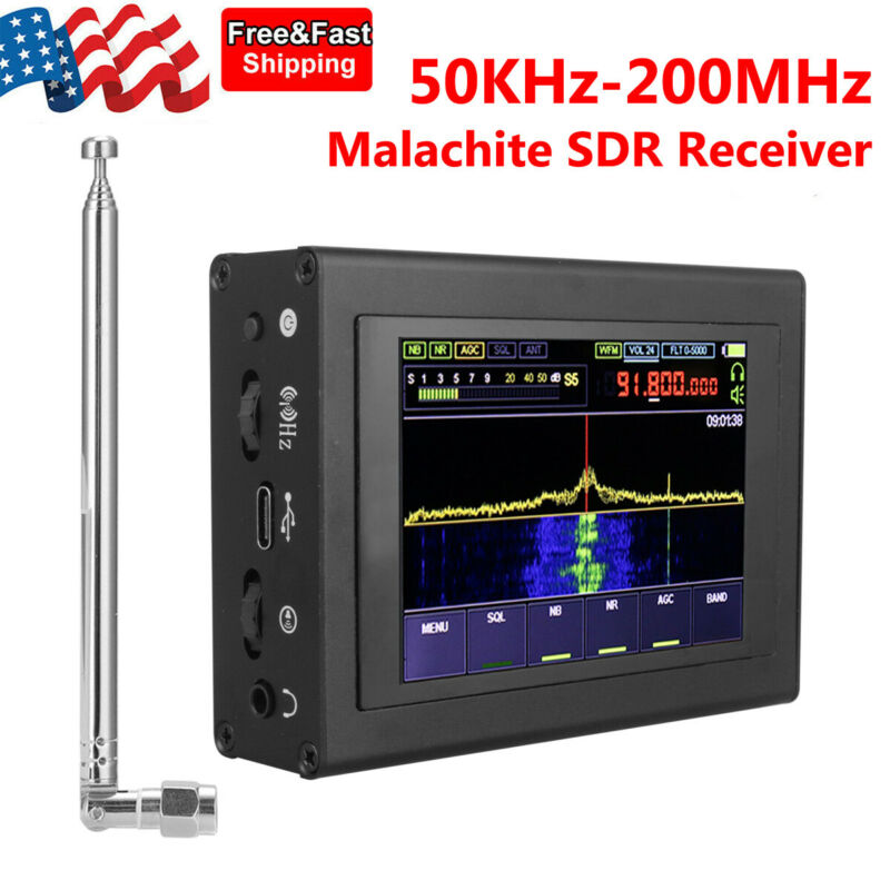 "Malachite DSP SDR Receiver 50KHz-2GHz Malahit 3.5"" LCD Shortwave Radio Receiver"