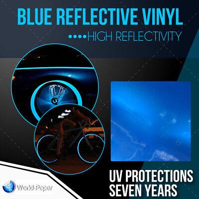 Blue Reflective Vinyl Adhesive Sign Plotter High Reflectivity 12x 5 Feet