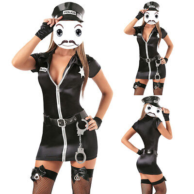 Halloween Women Police Cop Uniform Officer Costume Cosplay Fancy Dress Clubwear](Fashion Police Halloween Costume)