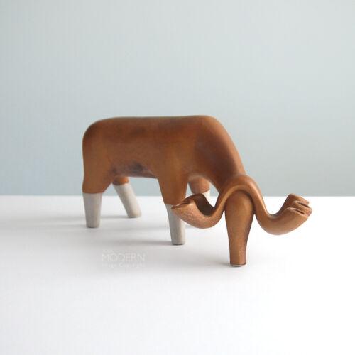 Bennington Potters Brown Moose Modernist Pottery Candle Holder Sculpture MCM