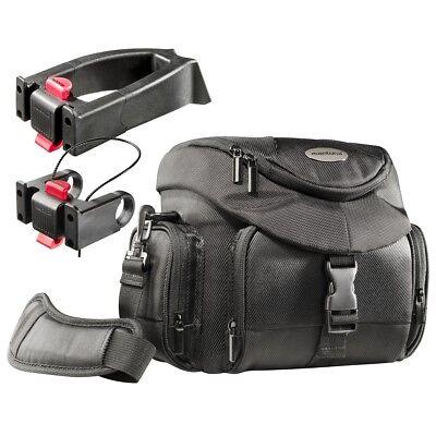 mantona Set Premium Biker Fototasche + 2 Adapter und Regenschutz