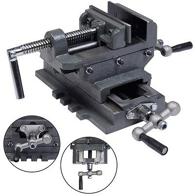 New 4 Cross Drill Press Vise X-y Clamp Machine Slide Metal Milling 2 Way Hd