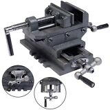 "New 4"" Cross Drill Press Vise X-Y Clamp Machine Slide Metal Milling 2 Way HD"