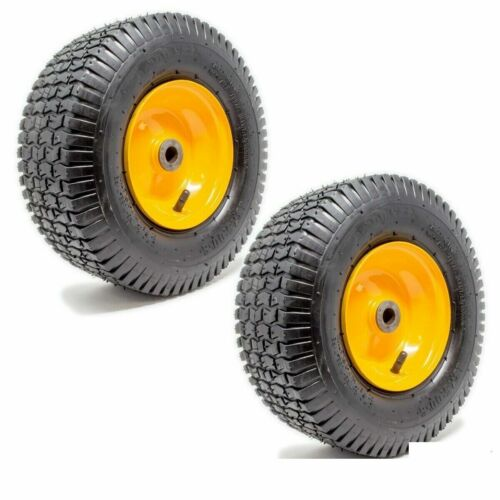 2PK 13x5.00-6 Turf Tire & Rim Assembly for Lawn Garden Tractors Golf Carts 2 PLY