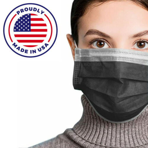 MADE IN USA 50 PCS Face Mask Mouth & Nose Protector Respirator Masks with Filter