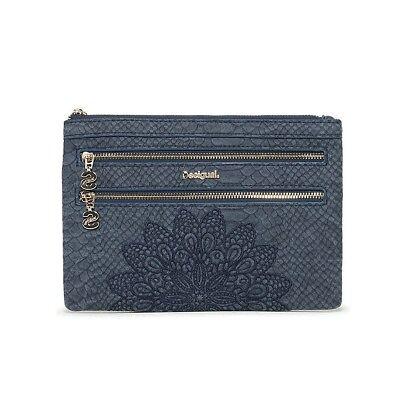 Multi-tasche Reißverschluss (Desigual Clutch Bag Seitentasche Abendtasche Mone Aquiles Multi Zip 18WAYP24)