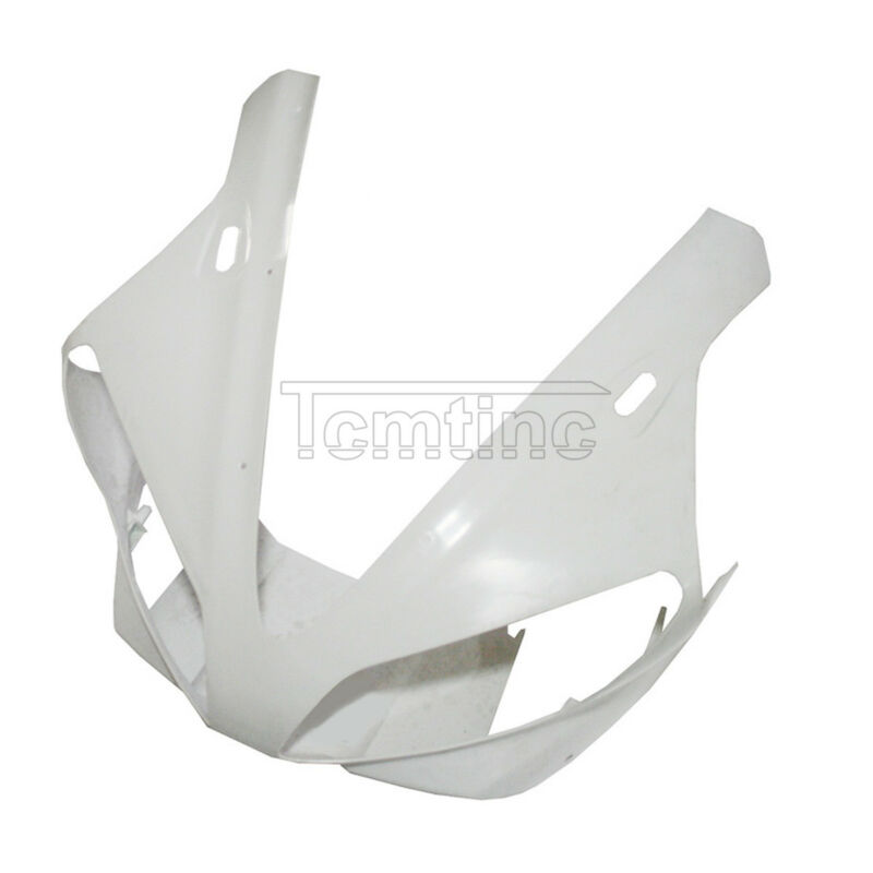 ABS Unpainted Upper Front Headlight Fairing Cowl Nose Fr Yamaha YZF R1 2000-2001