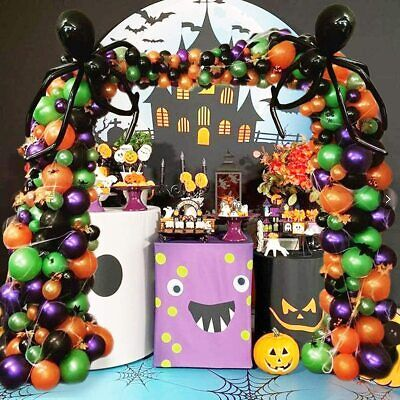 Halloween Balloon Garland Arch kit for Halloween Day Party Decorations 227pc