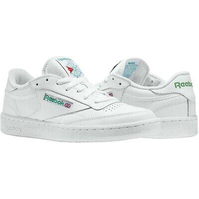 REEBOK CLUB C 85 Men's AR0456 WHITE/GREEN Walking Shoes