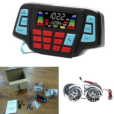 Motorcycle Bluetooth Audio System FM Radio Stereo Speaker Waterproof MP3 Player
