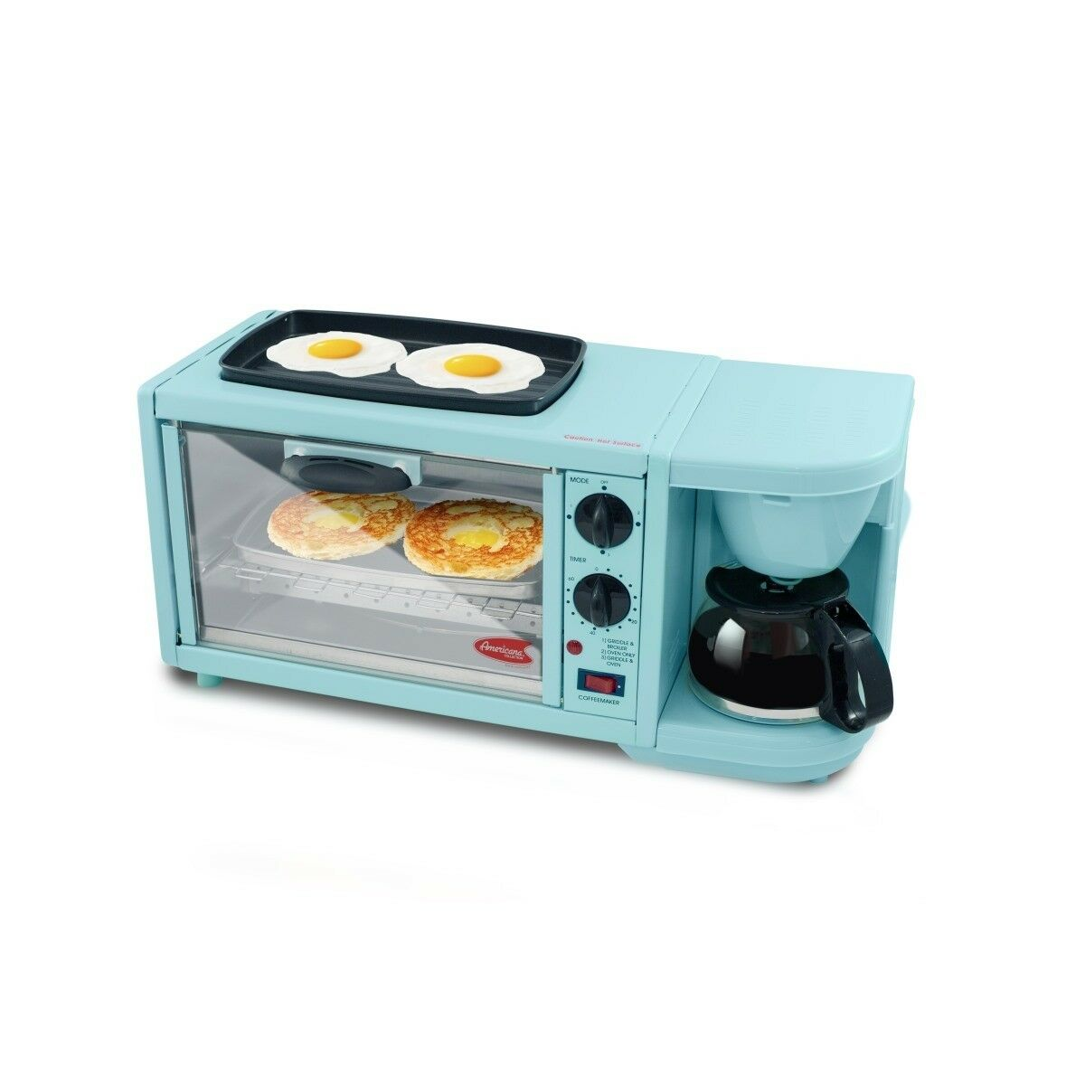 EMG EBK300BL Maximatic 3 In1 Breakfast Toaster Oven Griddle