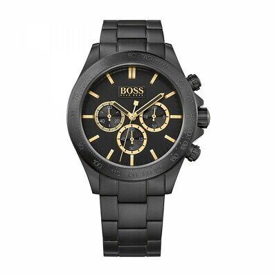 GENUINE Hugo Boss Men's Black Chronograph Watch HB1513278 ~2 YR WARRANTY~ £395 ~