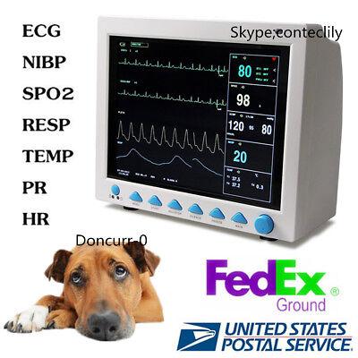 Cms8000vet Animal Icu Patient Monitor Multi-parameter Vet Veterinary 12.1 Lcd