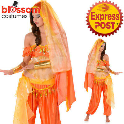 CA552 Arabian Princess Genie Aladdin Costume Jasmine Dancer Bollywood Outfit