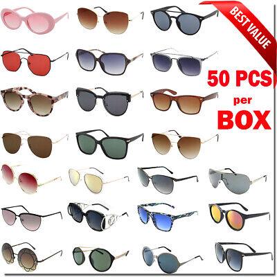 Bulk Lot Wholesale 50 Fashion Sunglasses Eyeglasses Assorted Men Women (New Sunglass Styles)