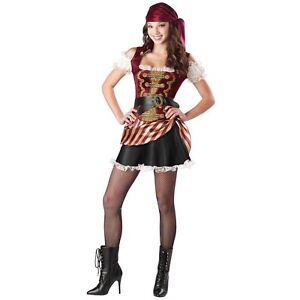 Pirate Babe Teen Junior Girls Buccaneer Halloween Costume