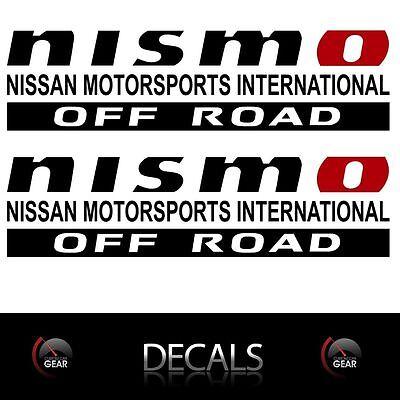 NISMO-OFF-ROAD-Decals-Stickers-Nissan-Titan-Frontier-Pathfinder-4X4-Truckbed-nmi 4x4 Off Road Decals