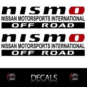 (2) NISMO OFF ROAD Decals Stickers Nissan Titan Frontier Pathfinder 4X4 Truckbed