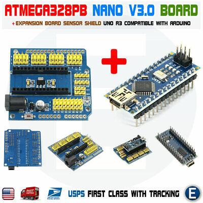 Nano V3.0 Expansion Shield Uno Atmega328p Nano Board Ch340g For Arduino