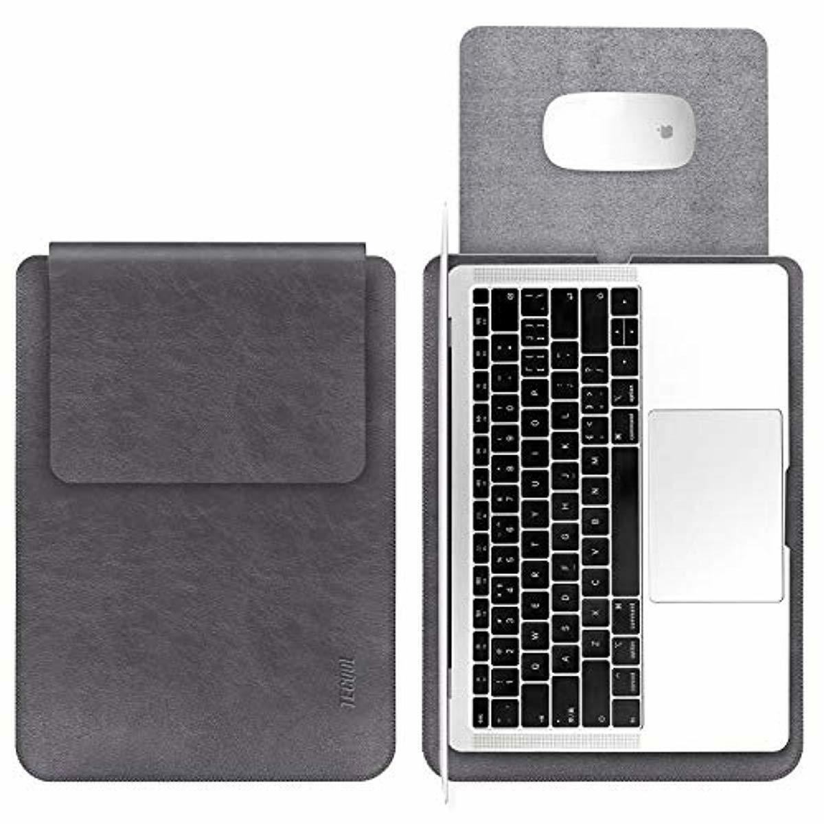 TECOOL Laptop Hülle 13 Zoll Tasche, Laptop Sleeve Kunstleder Schutzhülle Case