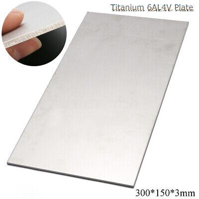 Us 3mm Thick Silver Industrial Titanium 6al4v Metal Plate Sheet 12 X 6 X 0 .125
