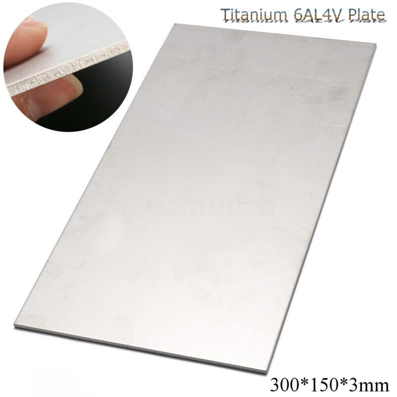"US 3mm Thick Silver Industrial Titanium 6AL4V Metal Plate Sheet 12 x 6 x 0 .125"""