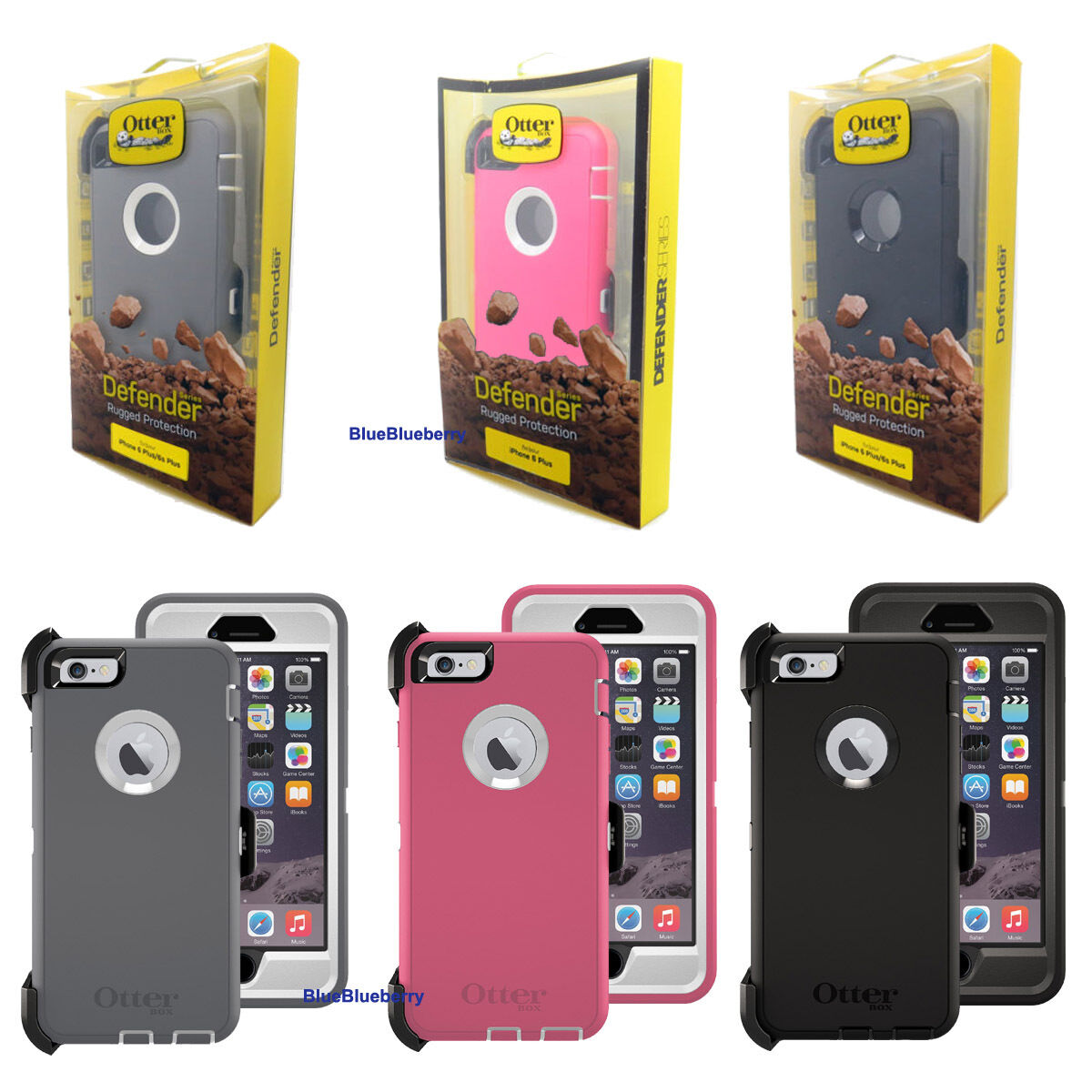 New Otterbox Defender Series Case Cover for Iphone 6 Plus &